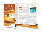 Sunset on the beach Brochure Templates