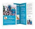 France. Marseille. Fish Market. Yachts. The seller and buyer. Brochure Templates