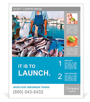 Fish Market Yachts The Seller And Buyer Poster Template