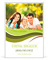 Happy couple with a baby on the grass Ad Template