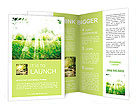 Summer sun on the lawn Brochure Templates