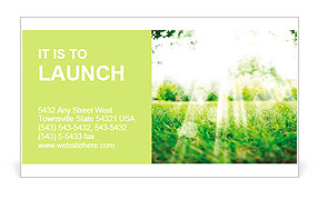 Summer sun on the lawn Business Card Template