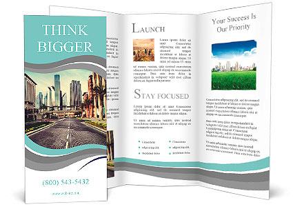 Retro Brochure Template | The Magnificent View Of The City In A Retro Style Brochure Template