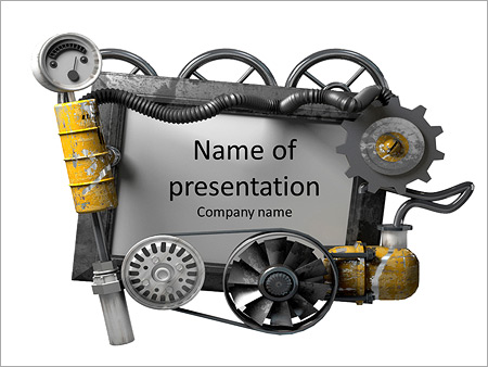 The mechanical machine powerpoint template backgrounds id the mechanical machine powerpoint template toneelgroepblik Image collections