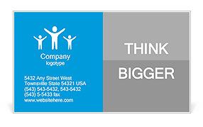 Illustration of mutual aid and support Business Card Template
