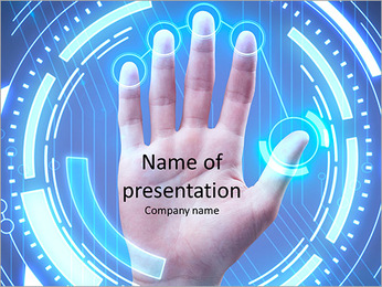 Fingerprint scan PowerPoint Template