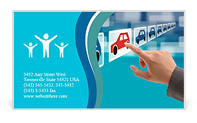 Select a new car with a single touch Business Card Templates