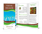 Green seedlings germinate Brochure Template