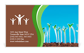 Green seedlings germinate Business Card Template