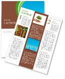 Green seedlings germinate Newsletter Template