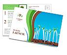 Green seedlings germinate Postcard Template