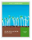 Green seedlings germinate Word Templates