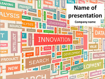 Innovation is a set of words PowerPoint Template