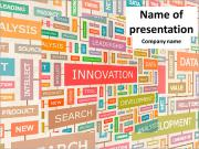 Innovation is a set of words PowerPoint Templates
