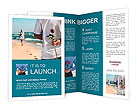 Couple in love on the beach Brochure Templates
