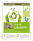 Sign ecology save nature together Flyer Template