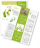 Sign ecology save nature together Newsletter Templates