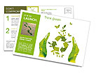 Sign ecology save nature together Postcard Template