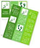 Green traces of man on a white background Newsletter Templates