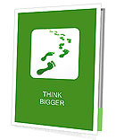 Green traces of man on a white background Presentation Folder