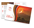 Eruption Postcard Template