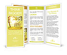 Family in autumn park Brochure Templates