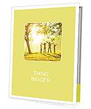 Family in autumn park Presentation Folder