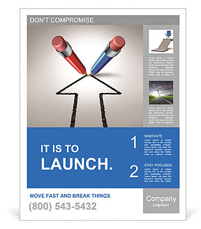 Red and blue pencils together for a common goal poster template red and blue pencils together for a common goal poster templates pronofoot35fo Gallery
