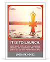 Yoga woman sitting in lotus pose Ad Template