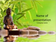 Buddha in meditation PowerPoint Templates