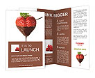 Chocolate covered strawberries on a white background Brochure Templates