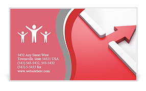 The two red arrows Business Card Template