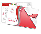 The two red arrows Postcard Templates