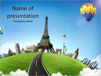 Wonderful European vacation PowerPoint Template