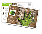Hand made ​​from leaves Postcard Template