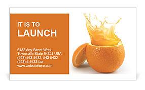 Juicy orange Business Card Template