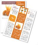 Juicy orange Newsletter Templates