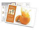 Juicy orange Postcard Template