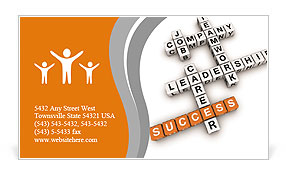 Crosswords success Business Card Template