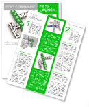 Crossword business Newsletter Template