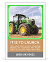 The tractor is on the field Ad Template