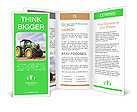 The tractor is on the field Brochure Templates