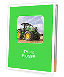 The tractor is on the field Presentation Folder