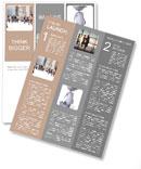 People walk on the street Newsletter Templates
