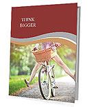 A girl rides a bicycle Presentation Folder