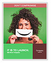 Curly girl holding a sign with a smile Word Templates
