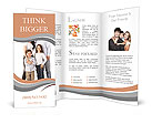 A happy family posing Brochure Templates