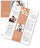 A happy family posing Newsletter Templates