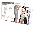 A happy family posing Postcard Template