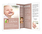 Happy toddler smiling Brochure Templates